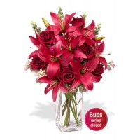 6 Roses and 4 Asiatic Lily Vase Bouquet