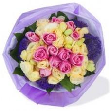 One DozenMaria Pink Rose Bouquet